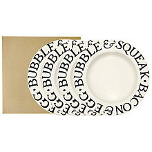 Buy Emma Bridgewater Black Toast 27cm Dinner Plates, Set of 4 Online at johnlewis.com