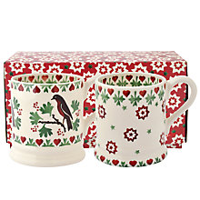 Buy Emma Bridgewater Joy Robin 1/2pt Mugs, Set of 2 Online at johnlewis.com