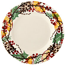 "Buy Emma Bridge Water Holly Wreath 8.5"" Plate Online at johnlewis.com"