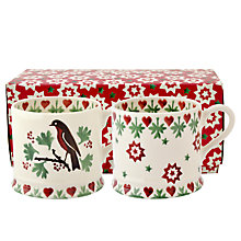 Buy Emma Bridgewater Joy Robin Baby Mugs, Set of 2 Online at johnlewis.com