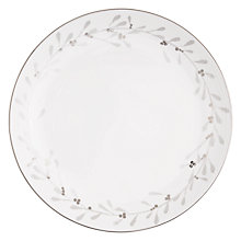 Buy John Lewis Snowshill Wreath 27.5cm Plate, White / Silver Online at johnlewis.com