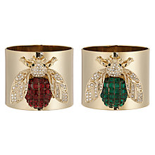 Buy Joanna Buchanan Bee Napkin Rings, Set of 2, Red / Green Online at johnlewis.com