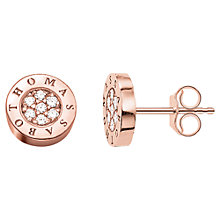 Buy Thomas Sabo Glam & Soul Zirconia Pave Stud Earrings, Rose Gold Online at johnlewis.com