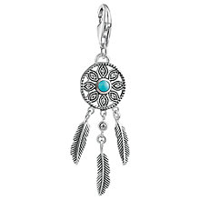 Buy Thomas Sabo Charm Club Faux Turquoise Dreamcatcher Charm, Silver/Turquoise Online at johnlewis.com