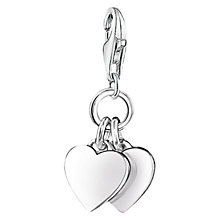 Buy Thomas Sabo Charm Club Double Hearts Charm, Silver Online at johnlewis.com