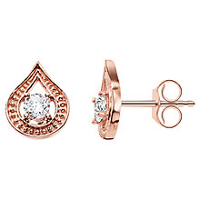 Buy Thomas Sabo Purity of Lotus Zirconia Teardrop Stud Earrings Online at johnlewis.com