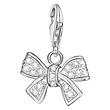 Buy Thomas Sabo Charm Club Bow Charm, Silver Online at johnlewis.com