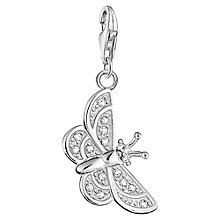 Buy Thomas Sabo Charm Club Butterfly Charm, Silver Online at johnlewis.com