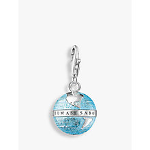 Buy Thomas Sabo Charm Club Enamel Globe Charm, Blue/Silver Online at johnlewis.com
