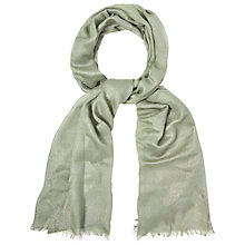 Buy White Stuff Metallic Fibre Stripe Scarf, Green Online at johnlewis.com