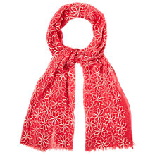 Buy White Stuff Eva Floral Embroidery Scarf Online at johnlewis.com