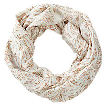 Buy Pure Collection Aileen Swirl Silk Snood, Neutral Online at johnlewis.com