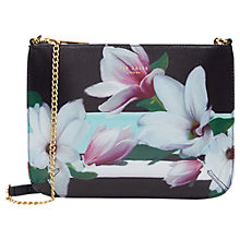 Buy Ted Baker Cyra Magnolia Stripe Across Body Clutch Bag, Navy Online at johnlewis.com