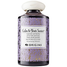 Buy Calm To Your Senses Lavender & Vanilla Oil For Bath & Body, 150ml Online at johnlewis.com