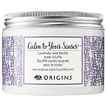 Buy Origins Calm To Your Senses Lavender & Vanilla Body Souffle, 200ml Online at johnlewis.com