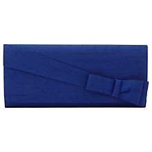 Buy Jacques Vert Twist Bow Clutch Bag, Mid Blue Online at johnlewis.com