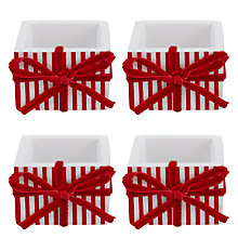 Buy House by John Lewis Present Napkin Rings, Set of 4 Online at johnlewis.com