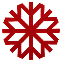 Buy House by John Lewis Felt Snowflake Coaster, Red Online at johnlewis.com