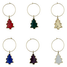Buy House by John Lewis Christmas Tree Wine Charms, Pack of 6 Online at johnlewis.com