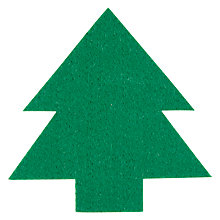 Buy House by John Lewis Felt Christmas Tree Coaster, Green Online at johnlewis.com