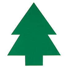Buy House By John Lewis Felt Christmas Tree Placemat, Green Online at johnlewis.com