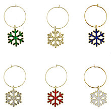 Buy House by John Lewis Snowflake Wine Charms Online at johnlewis.com