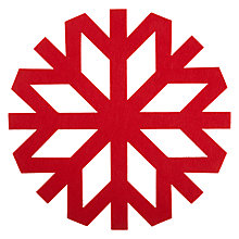 Buy House by John Lewis Felt Snowflake Placemat, Red Online at johnlewis.com