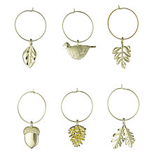 Buy John Lewis Ruskin House Wine Charms, Pack of 6 Online at johnlewis.com