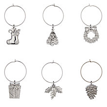 Buy John Lewis Snowshill Wine Glass Charms, Silver Online at johnlewis.com