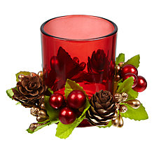 Buy John Lewis Berry Votive Candle Holder, Red Online at johnlewis.com