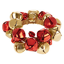 Buy John Lewis Jingle Bells Napkin Ring, Set of 4, Red / Gold Online at johnlewis.com