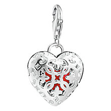 Buy Thomas Sabo Charm Club Locket Heart Charm, Silver/Red Online at johnlewis.com