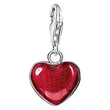 Buy Thomas Sabo Charm Club Large Heart Charm, Red Online at johnlewis.com