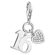 Buy Thomas Sabo Charm Club Lucky Number 16 Charm, Silver Online at johnlewis.com