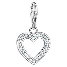 Buy Thomas Sabo Charm Club Open Heart Charm, Silver Online at johnlewis.com