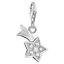 Buy Thomas Sabo Charm Club Star Charm, Silver Online at johnlewis.com