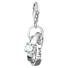 Buy Thomas Sabo Charm Club Wedding Rings Charm, Silver Online at johnlewis.com