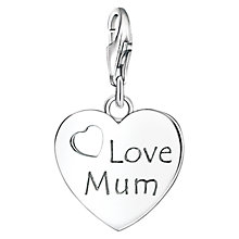 Buy Thomas Sabo Charm Club Love Mum Charm, Silver Online at johnlewis.com