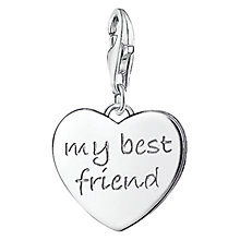 Buy Thomas Sabo Charm Club My Best Friend Heart Charm, Silver Online at johnlewis.com