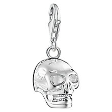 Buy Thomas Sabo Charm Club Skull Charm, Silver Online at johnlewis.com