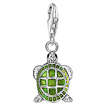 Buy Thomas Sabo Charm Club Enamel Turtle Charm, Silver/Green Online at johnlewis.com