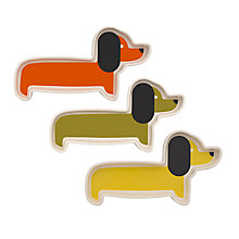 Buy Orla Kiely Dachshund Dish, Set of 3 Online at johnlewis.com