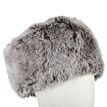 Buy John Lewis Faux Fur Cossack Hat, Silver Online at johnlewis.com