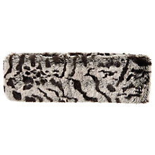 Buy John Lewis Animal Print Faux Fur Headband, Grey/Black Online at johnlewis.com