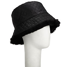 Buy John Lewis Faux Fur Reversible Hat, Black Online at johnlewis.com