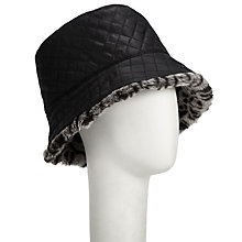 Buy John Lewis Faux Fur Reversible Hat, Animal Print Online at johnlewis.com