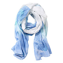 Buy Betty Barclay Printed Cotton Scarf, Blue/White Online at johnlewis.com