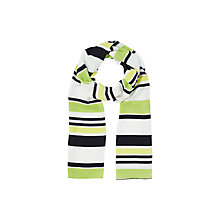 Buy Precis Petite Stripe Scarf, Multi Green Online at johnlewis.com