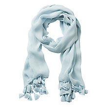 Buy Betty Barclay Long Scarf With Tassels, Light Mint Online at johnlewis.com