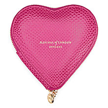Buy Aspinal of London Leather Heart Coin Purse Online at johnlewis.com